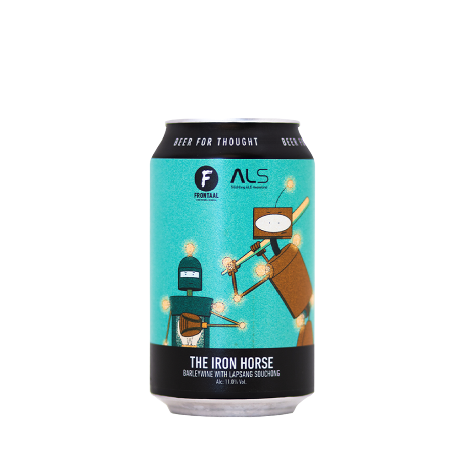 Frontaal x Stichting ALS The Iron Horse Barleywine w/ Lapsang Souchong 33cl